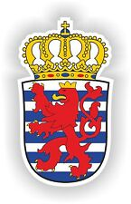 Luxembourg Crest Coat Of Arms Sticker decal Stickers Helmet Laptop Car Boat #01