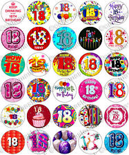 30 x 18th Birthday Party Edible Rice Wafer Paper Cupcake Toppers