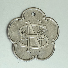Vintage Charge Coin Tag: Nathan Snellenburg & CO; NS&C; Philadelphia Dept Store