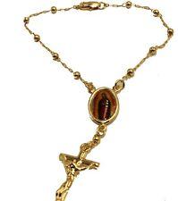 Virgen De Guadalupe 18k Gold Plated Rosary Bracelet 7 inch - Guadalupe Decenario