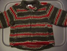 NWT BABY GAP green striped BERBER JACKET Infant size 3-6 MO msrp $27