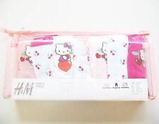 7x Unterhose Gr.122 /128 H&M NEU m.E 100% Baumwolle Hello Kitty Kirsche Set Slip