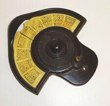 Alte Bakelit Radioskala Ersatzteil MELO 1930er 1940er Radio Rundfunkempfänger !