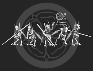 Bug Royal Warrior Squad  (5) -  Star Wars Legion Scale/Roleplay resin miniatures