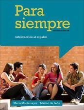 Student Activities Manual for Montemayor/de Leon's Para siempre: A Conversationa