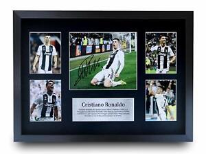 Cristiano Ronaldo Signed A4 A3 Framed Prints Autograph Juventus, Madrid, Man Utd