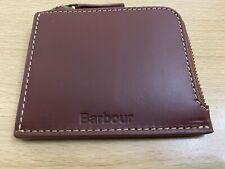 Barbour Hadleigh Leather Zip Wallet - Chestnut Brown BNWT