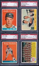 PSA 8 1958 Topps #393 Tony Kubek New York Yankees SET BREAK