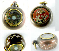 Charm Fob Pendant M Of P Dial Rare Antique Japanese Tiny Shakud� Working Compass
