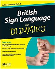 British Sign Language For Dummies NEW BOOK