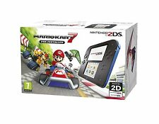 Nintendo Handheld Console 2DS - Black/Blue with Pre-installed Mario Kart 7 Pal