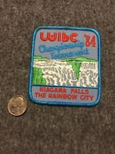 Vintage Wibc Rainbow City Niagara Falls 1984 Tournament Bowling Patch Mint