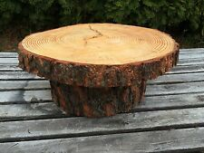 X-Large Log Pine Wood Rustic Cake Cupcake Stand Wedding party shower wooden