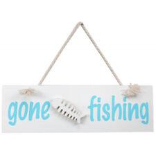 Mini Gone Fishing Wooden Sign