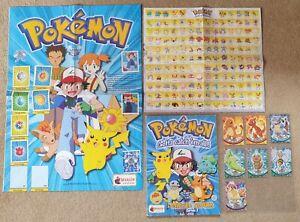 Pokemon Sticker Album Series 2 - 75% Complete + Topps Cards, Posters Merlin 2000