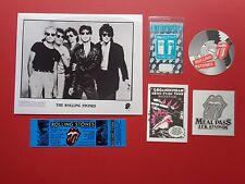 ROLLING STONES,Promo photo,4 Backstage passes,concert ticket,RARE Originals,