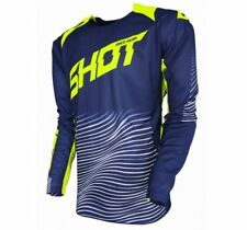2018 Shot Aerolite Optica 650 GR Mens MX Offroad Jersey Blue/Neon Yellow XXL