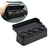 Car Black Coin Case Loose Change Storage Box Small Money Wallet Holder Organizer