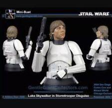 Star Wars Gentle Giant Luke Skywalker In Stormtrooper Disguise Mini Bust Mib New