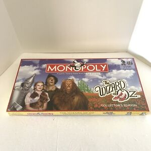The Wizard of Oz Collectors Edition Monopoly Board Game NEW FACTORY SEALED
