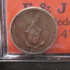 ONE 1944-D PHILIPPINES  10 CENTAVOS  SILVER  STOCK PICTURE  XX5