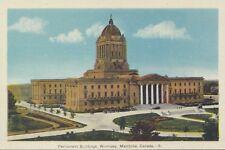 Parliament Buildings WINNIPEG Manitoba Canada 1930-40s PECO Postcard 5