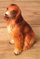 "Vintage Ceramic 8"" Brown Cocker Spaniel Spaniels Dog Figurine Decor Japan"