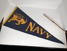 "Vintage Navy Pennant Get Em Goat 29"" Full Sized"