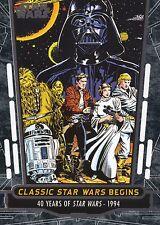 2017 Star Wars 40th Anniversary Card #78 Classic Star Wars Begins