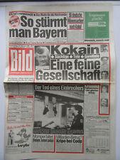 Bild Zeitung vom 16.02.1989, Abi Ofarim, Alain Delon, Carlo von Tiedemann