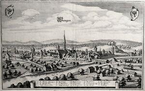 Wangen, Baden-Württemberg, Kupferstich um 1650