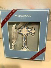 New Wedgwood 2018 Blue Cross Christmas Porcelain Jaspeware Ornament # 40032828