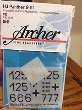 1/35 Archer fine transfers AR35188 for HJ Panther G (#1)
