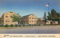 LAKE ELSINORE, CALIFORNIA WREDEN HOT SPRINGS HOTEL FORMERLY AMSBURY OLD POSTCARD