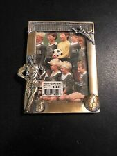 Two Soccer Players, Net, Foot with Ball Photo Picture Frame Made of Pewter