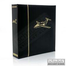 Schaubek Motivalbum Flugzeuge - Kunstleder-Schraubbinder schwarz, mit Motivprägu