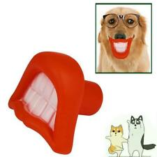 Pet Dog Toy Teeth Lip Mouth Pacifier Soother Rubber Toy Puppy Chew Squeaky Toy