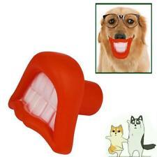 Pet Cane Toy Denti Labbra Bocca Ciuccio Soother Rubber Toy cucciolo Chew Squeaky Toy