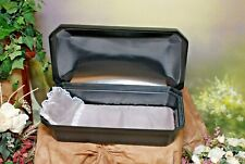 "Newnak's- Medium 24"" Standard Pet Casket Black/Silver"
