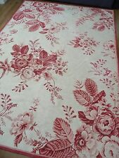 "Laura Ashley Teppich ""Katie"" Shabby Cottage Chic Kohl Rosen Wolle Mix riesig selten"