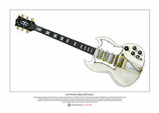 Jimi Hendrix's 1967 Gibson SG Custom Limited Edition Fine Art Print A3 size