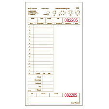 """National Checking Large 1-Part 20-Line Copy Guest Check, 8.5"""" x 5.25"""", 2000/Case"""