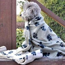 Fashion Cute Pet Dog Cat Puppy Paw Prints Couture Cloak Blanket Mat Sheet Top