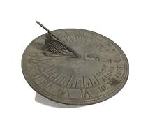 Vintage Metal Father Time Sundial 11""