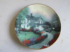 "Knowles Thomas Kinkade's Home is Where The Heart Is ""Home Sweet Home"" Plate, Coa"