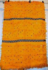 "Moroccan Handira Blanket Wool Blend 54"" x 33'' Traditionaly Handwoven"