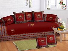 Indian beautiful Bohemian Diwan Set Diwan Cover Cushion Covers Bolster Covers