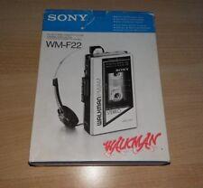 Sony WALKMAN-cassette player-wm-f22 di 1979-IN SCATOLA ORIGINALE!/TOP!!!