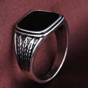 Black Mens/Womens Ring Jewelry Rings Silver Vintage Hip Hop Size 7