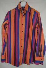 Hawes & Curtis ~London Smart Slim Fit Bold Snazzy Multicolour Striped Shirt M